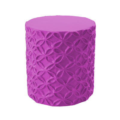 bright and colorful flower pattern stool/accent table