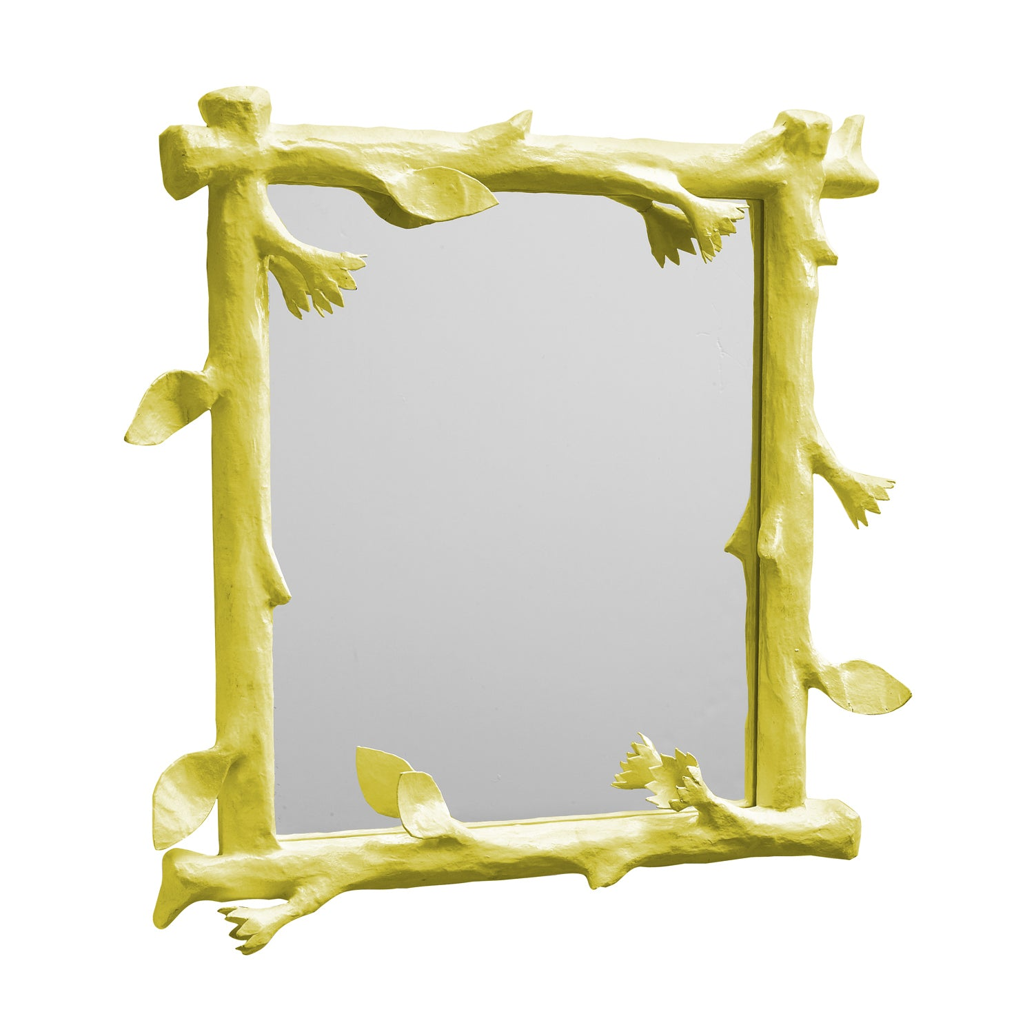 Funky Faux Bois Mirror with twiggy designs