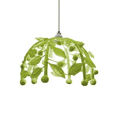 leafy green pendant light made from papier mache. Gabby Pendant.
