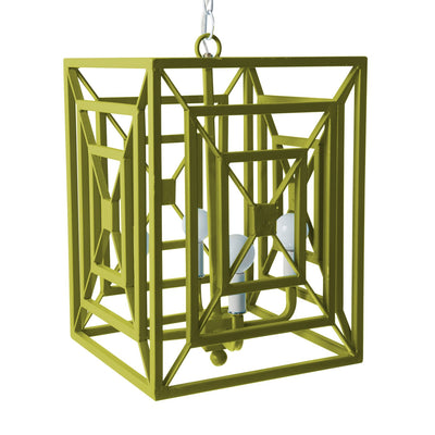green jay chandelier rectangular iron hanging light