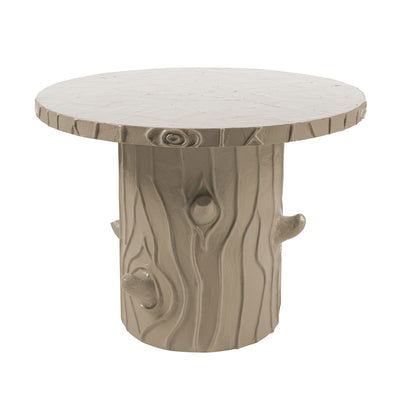 Papier mache covered Faux Bois Fun Table