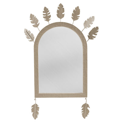 John Ross Mirror papier mache mirror with feathers.
