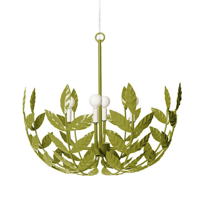leafy, lush handmade iron ceiling light for Stray Dog, the Leonora Light