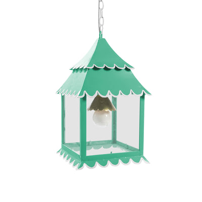 fun aqua hanging lantern with scallop edges, Little Girly Light