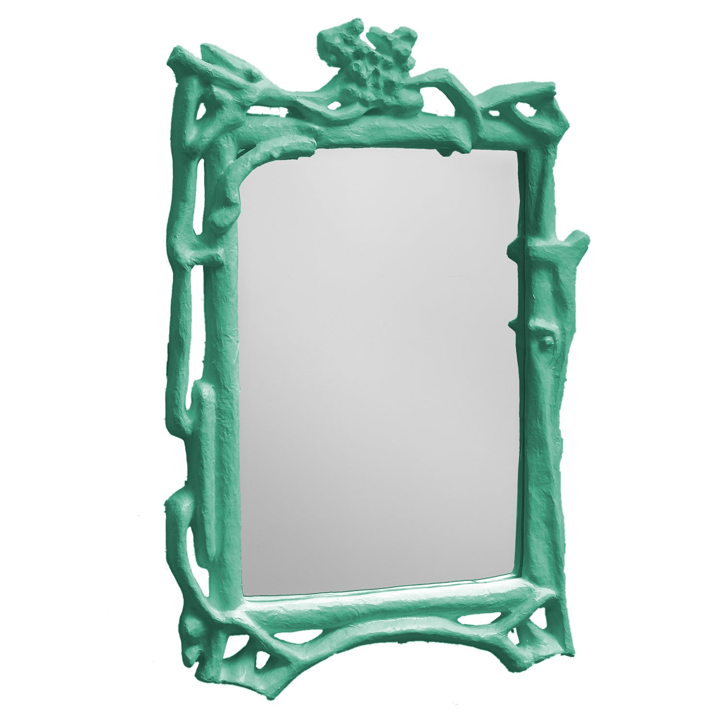 Magalie Mirror, artisan made papier mache branches frame