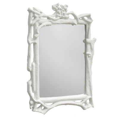 Magalie Mirror papier mache faux bois hand made in Mexico.