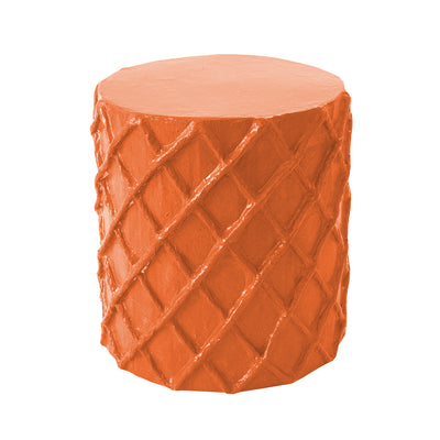 orange net stool by stray dog designs