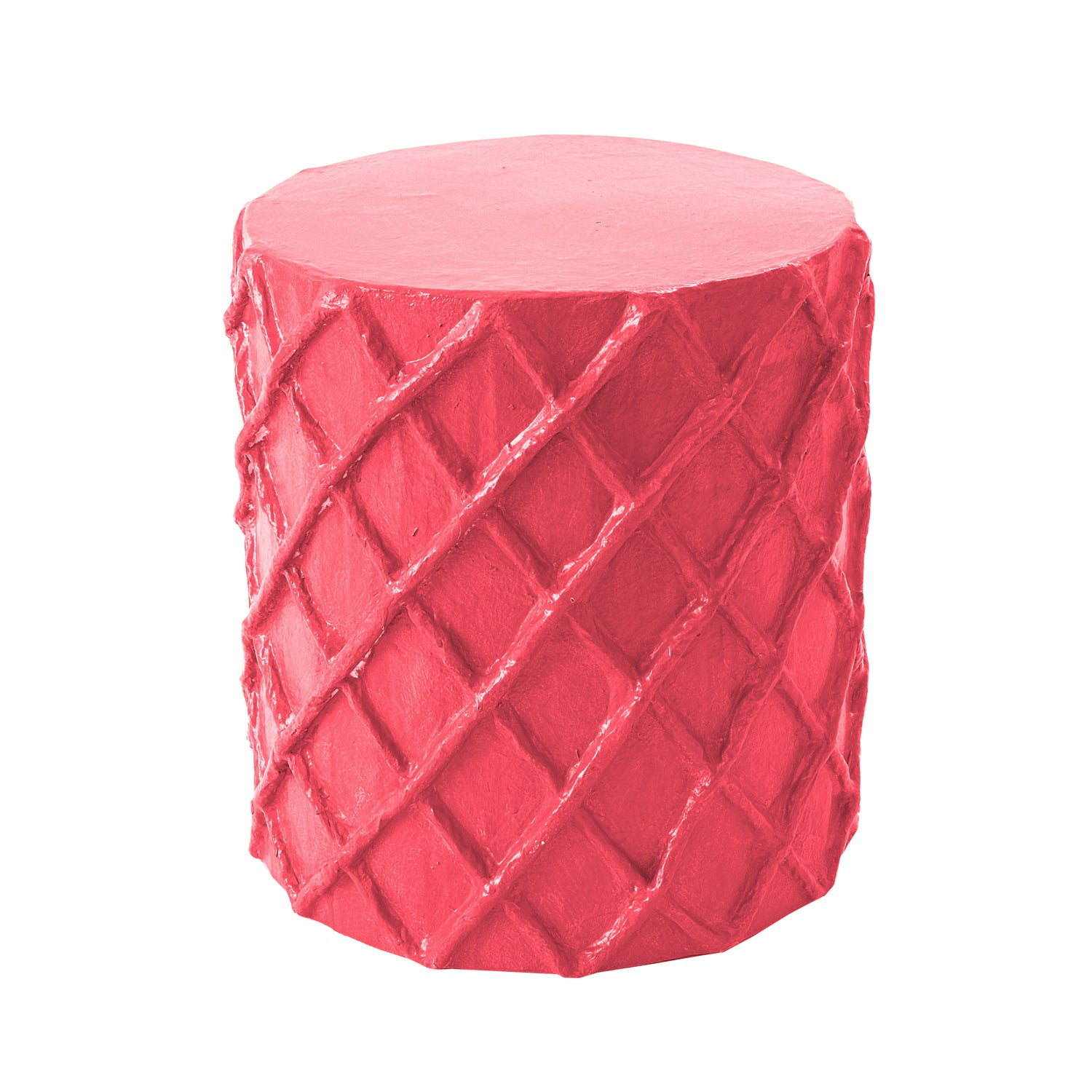 stool or accent table in hot pink