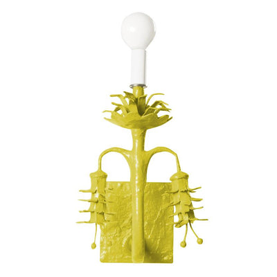 chartreuse Polly Sconce, papier mache