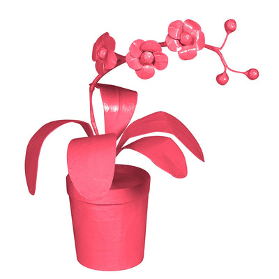 Pink Potted Orchid by Stray Dog Designs
