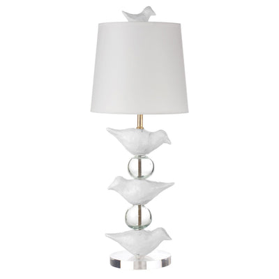 white Robin Staak Lamp by Stray Dog Designs
