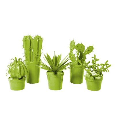 green papier mache cacti in pots j. crew store decor