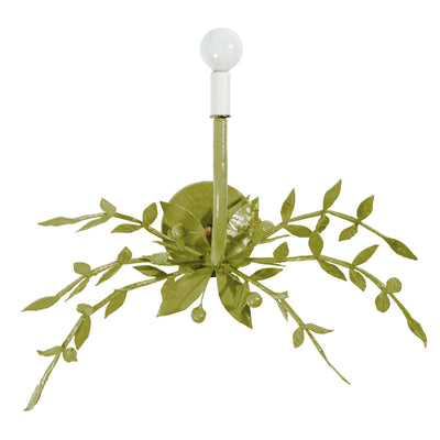 Taylor B Wall Light in forest moss by ben moore, paper mache light