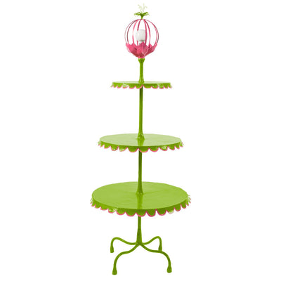pink and green fun 3 tiered floor light by stray dog designs