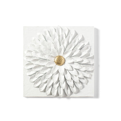 Dahlia Wall Tile, handmade in Mexico