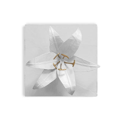 Lily Flower Wall Tile, handmade in Mexico