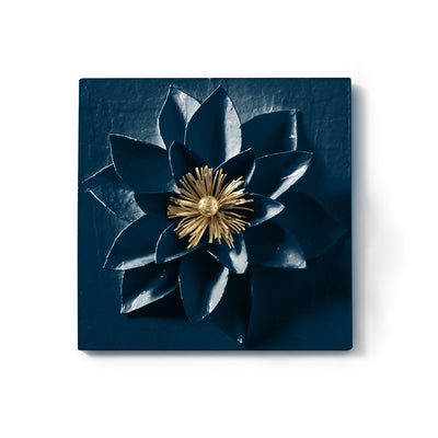 Lotus Flower Wall Tile in Papier Mache