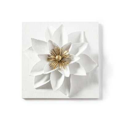 Lotus Flower Wall Tile, handmade in Mexico