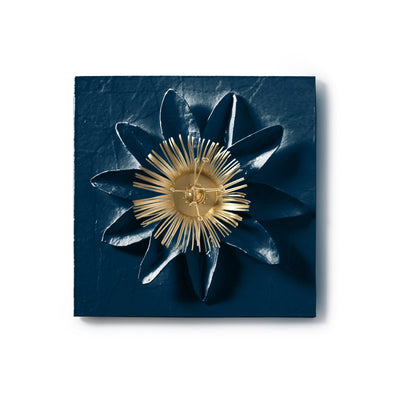 Passion Flower Wall Tile in papier mache