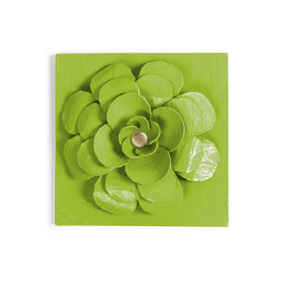 Zinnia Flower Wall Tile by Stray Dog Designs