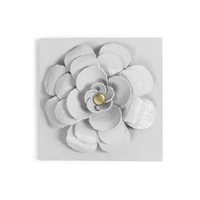 Zinnia Flower Wall Tile, handmade in Mexico