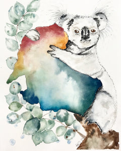 """Save the Koalas"" Gicleé Print 8"" X 10"""