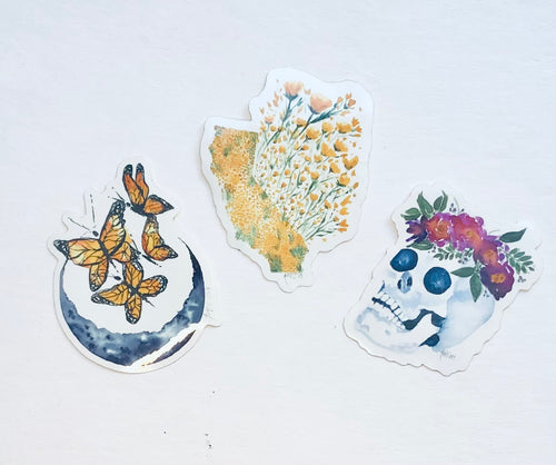 Watercolor stickers.