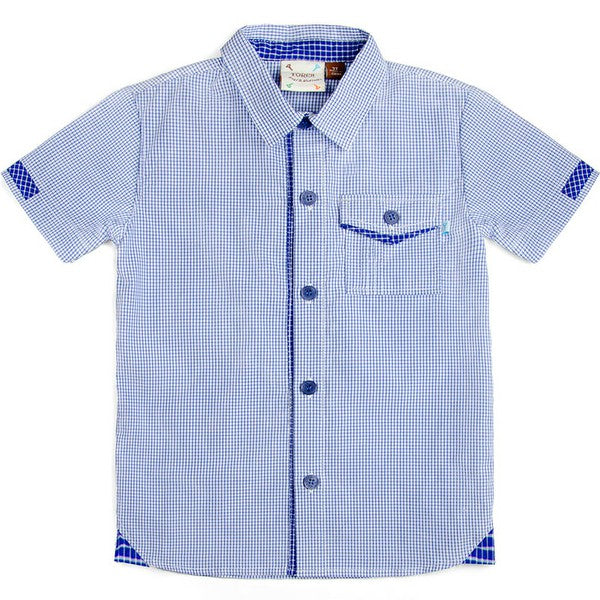 Axel & Hudson Blue Check Shirt