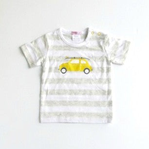 Papoose Baby Yellow Car T Shirt
