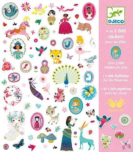 Djeco Stickers 1000+ Stickers for Girls