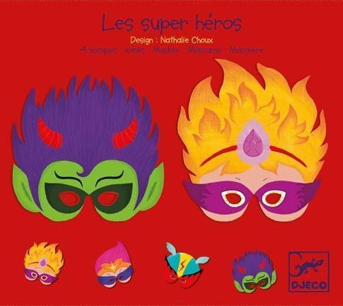Djeco Super Hero Masks - Set of 4