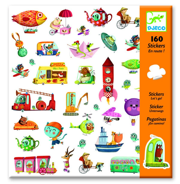 Djeco Stickers 160 En Route