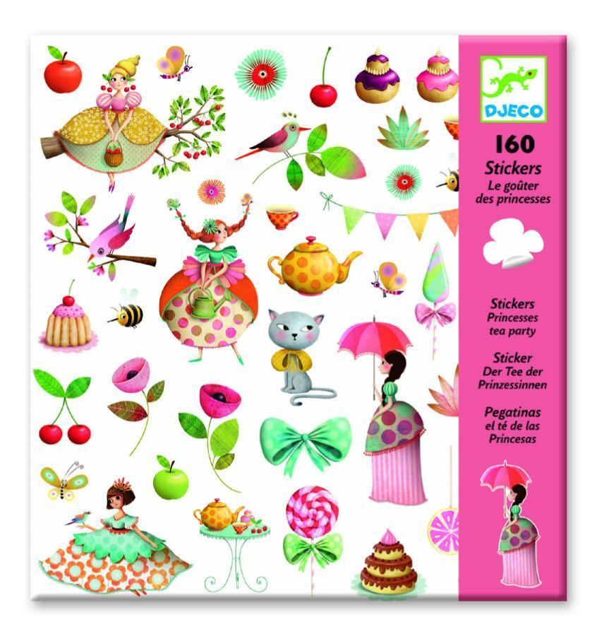 Djeco Stickers 160 Tea Party