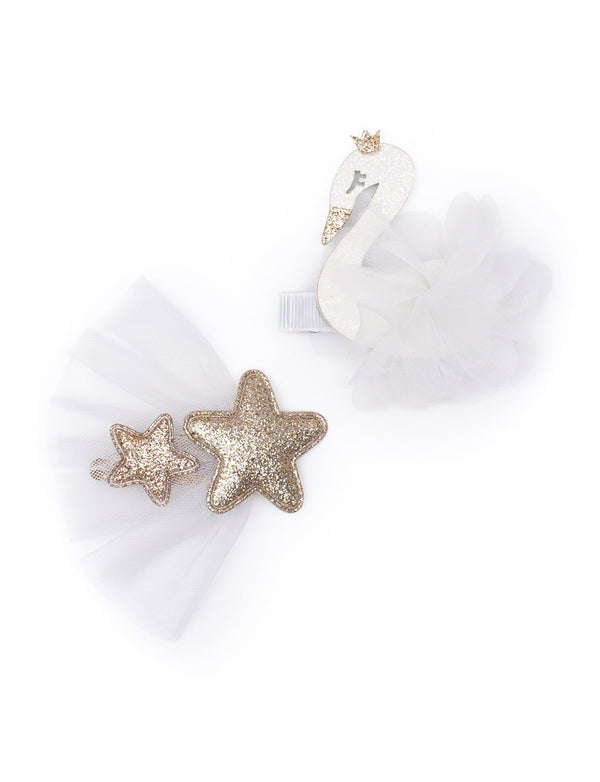 Billy Loves Audrey - Ballet Swan Hair Clips