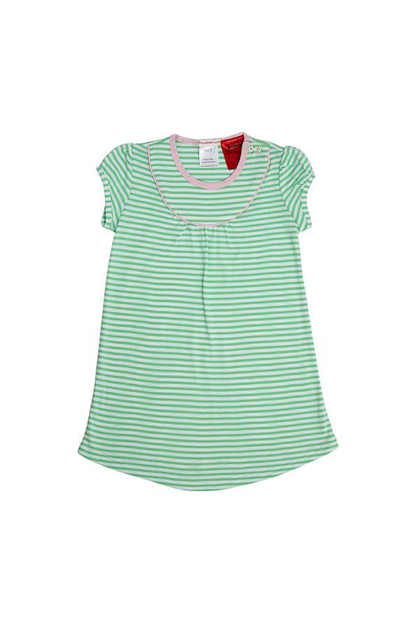 Huckleberry Lane Green Stripe Nightie