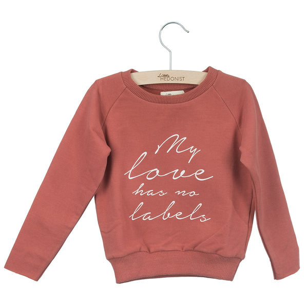 Little Hedonist Sweater My Love Has No Labels Brick