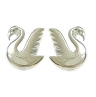 Lauren HinkleySilver Swan Earrings