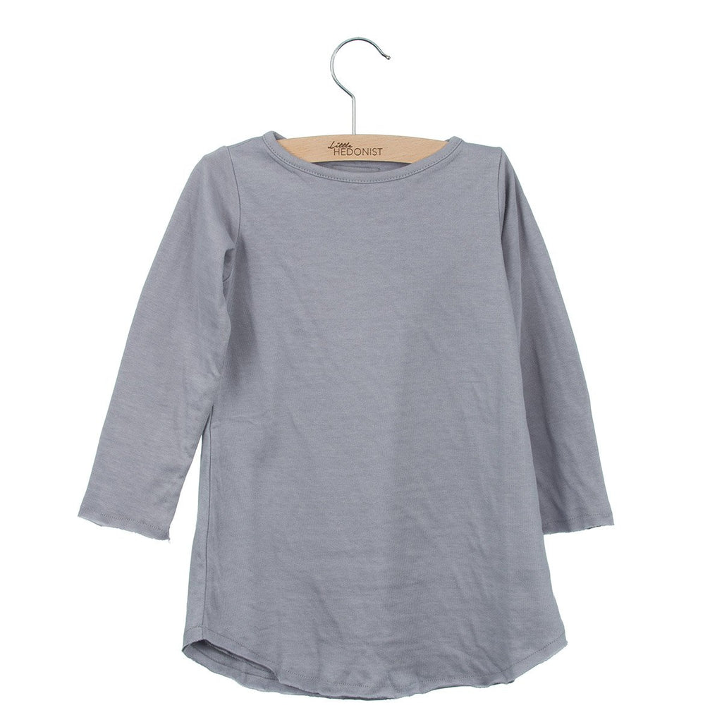 Little Hedonist LS Dress Lilac Grey