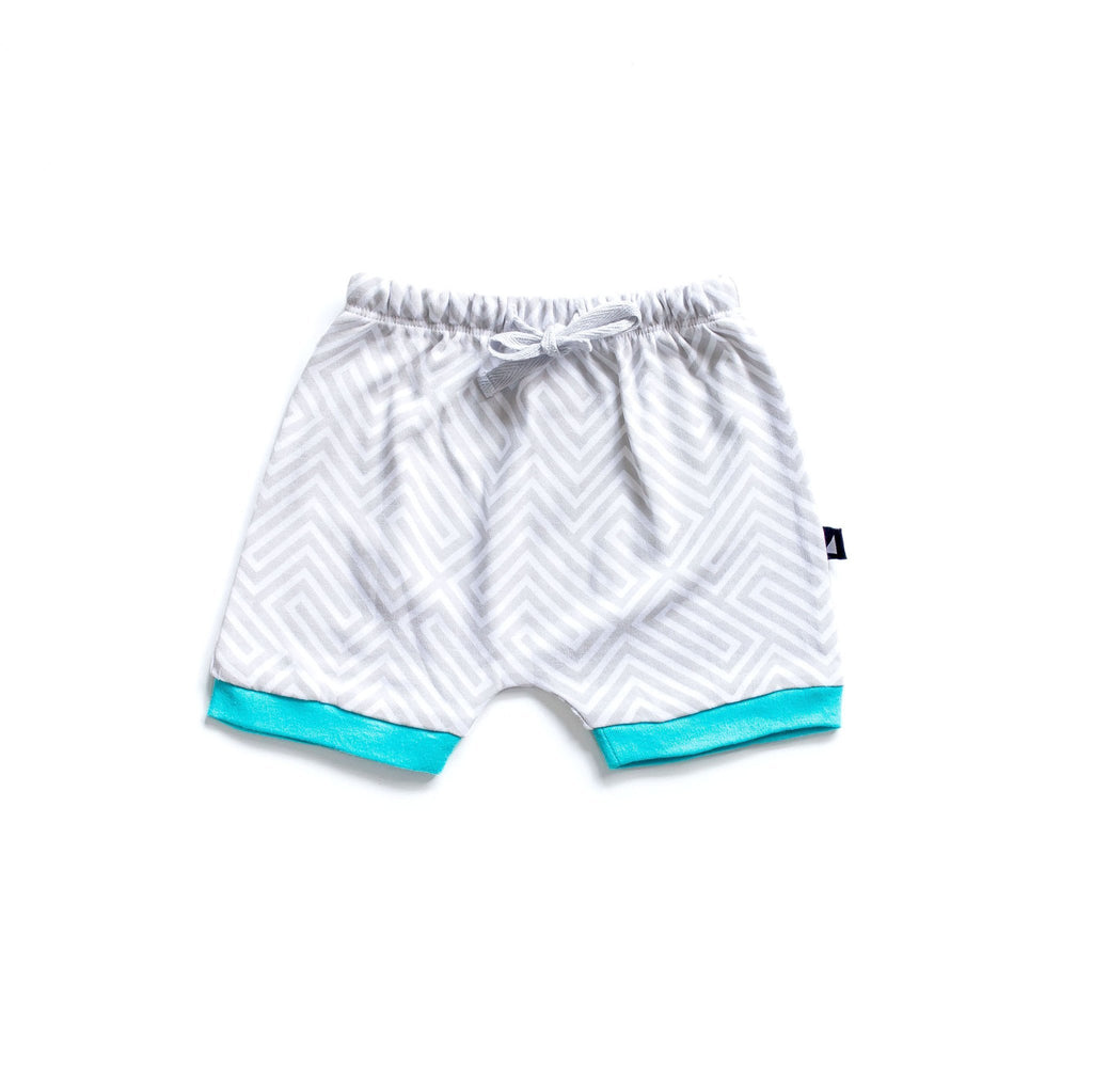 Anarkid Maze Relaxed Shorts - Blue/Grey