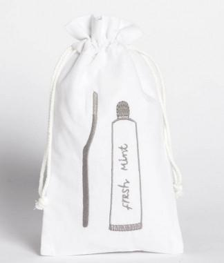 Nana Huchy Tooth Brush Bag White
