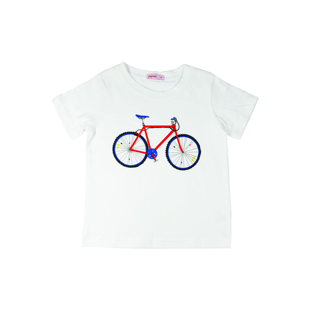 Papoose Bicycle T Shirt - White