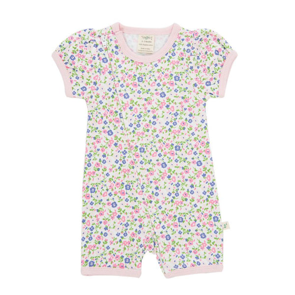 Tiny Twig Summer Flowers Zip Suit