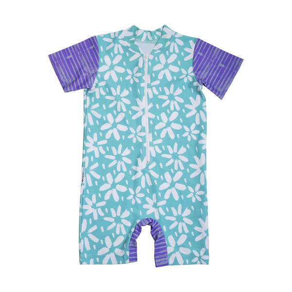 Mini Sandcrabs Short Sleeve Sunsuit Summer Flower Caribbean