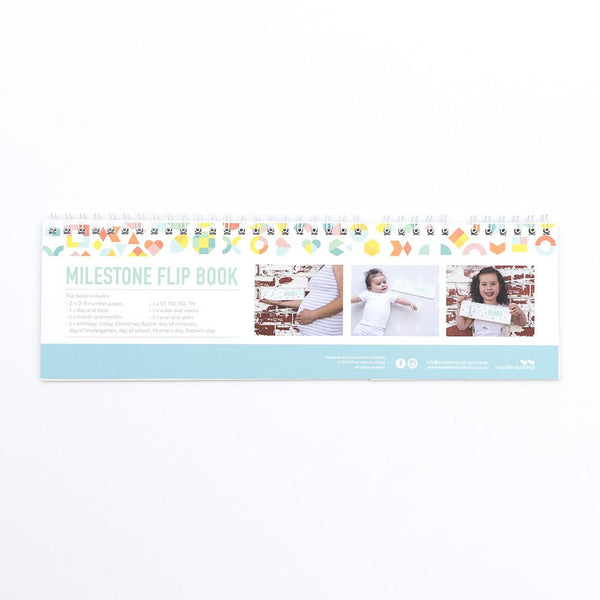 Two Little Ducklings Milestone Flip Book
