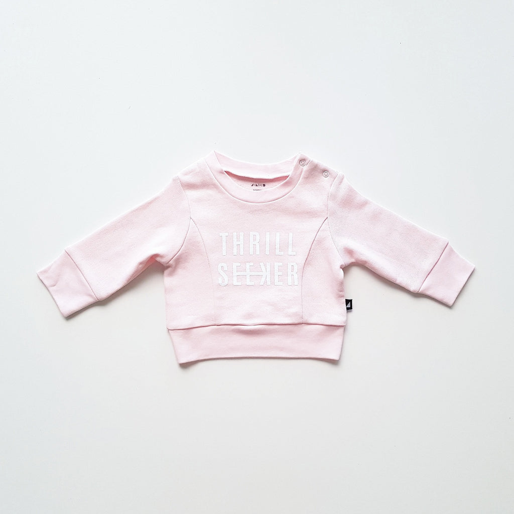 Anarkid AW17 Thrill Seeker Fleece Jumper - Ice Pink