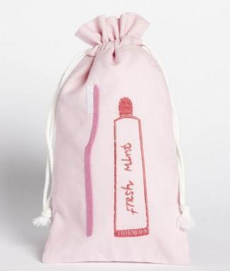 Nana Huchy Tooth Brush Bag Pink
