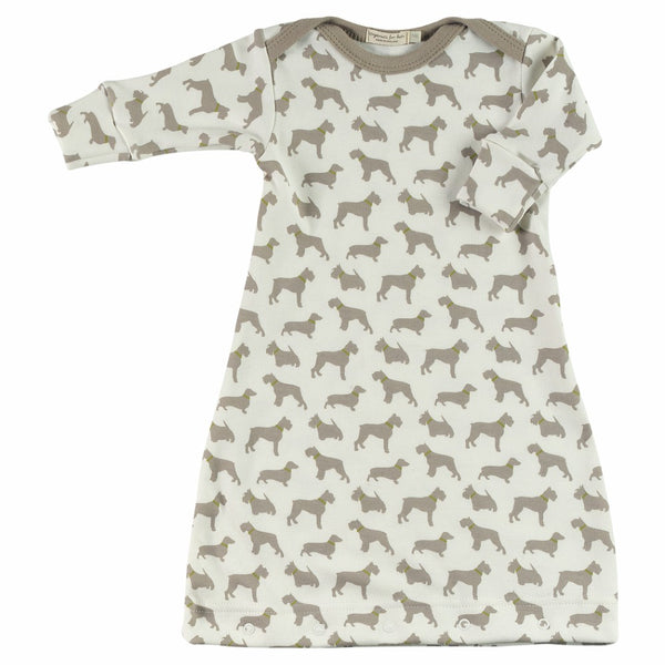 Pigeon Organics - Baby Gown Dogs