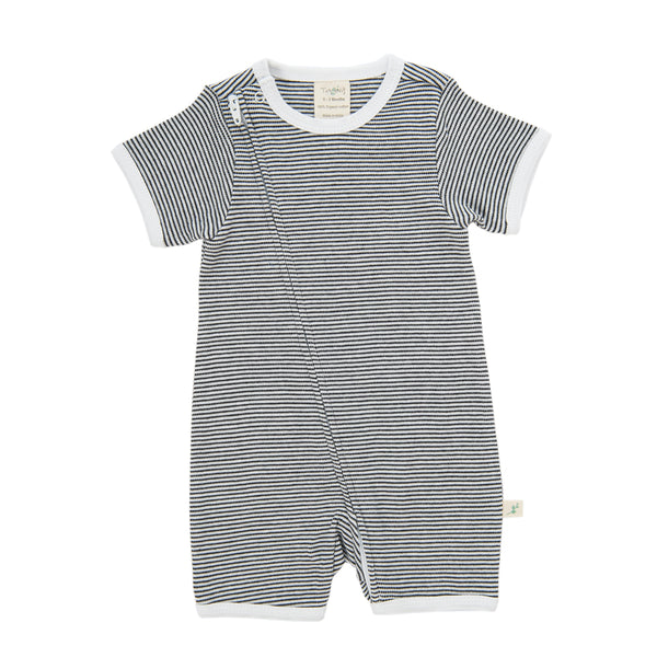 Tiny Twig Graphite Stripe Zip Suit