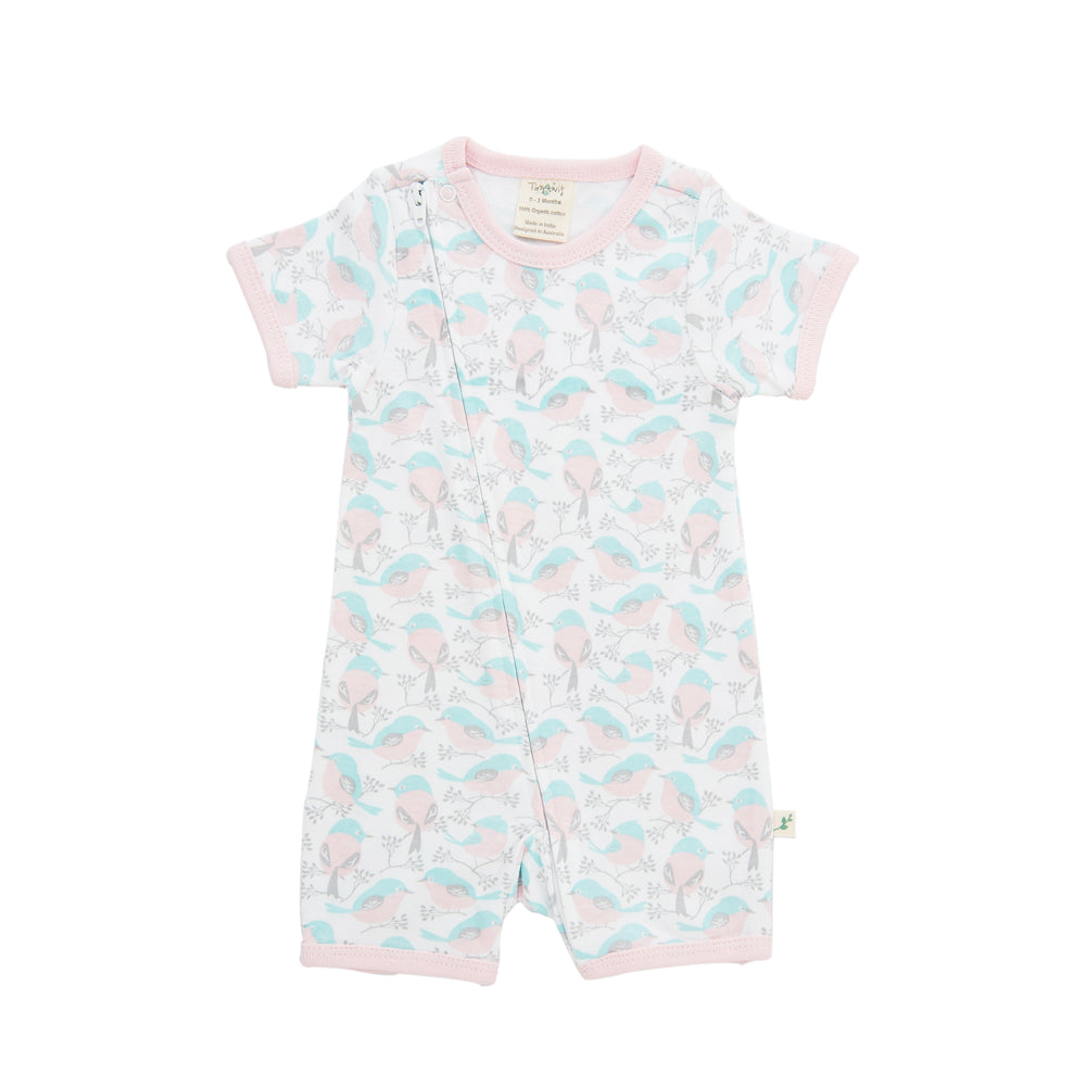 Tiny Twig Love Birds Zip Suit