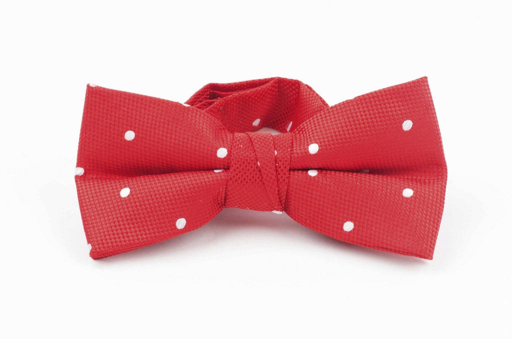 Axel & Hudson Red Polka Dot Bow Tie